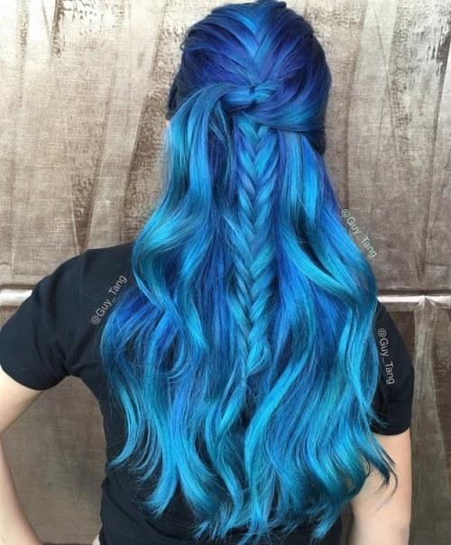 ocean blue hair 2016